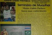 Matéria de Jornal sobre o Seminário de Muaythai